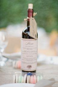 @Zoë Bullard -- another version! Menu card on wine bottle.