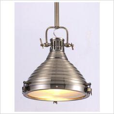 Vintage Provincial Pendant Light in Antique Brass Emporium Oggetti | Wayfair