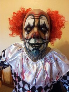 Uncle Colin Clown mask by Rubber Gorilla, awesome quality. Halloween Clown, Gruseliger Clown, Clown Horror, Halloween Forum, Hot Halloween Costumes, Clown Faces, Halloween 2013, Arte Horror, Halloween Makeup