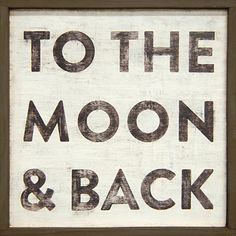"""""""To the Moon and Back"""" Little Art Print Dark Frame"""