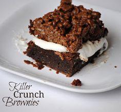The Farm Girl Recipes: Killler Crunch Brownies