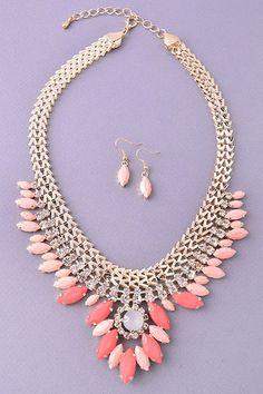 Bohemian Glamour - Beaded Bib Necklace by Three Bird Nest | Women's Boho Clothing