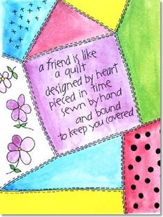 Heartstrings Card Company :: Humor Greeting Cards :: A Friend is Like a Quilt - Greeting Cards in Boulder, Colorado
