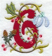 Machine Embroidery Designs at Embroidery Library! - A Jacobean Christmas Alphabet Design Pack (3 Inch Height)