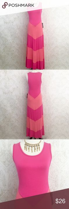 Soft stretch knit maxi dress in 2 shades of pink Description to follow French Atmosphere Dresses Maxi