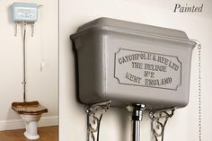 old style high tank toilets | Toilets and cisterns - High level cisterns - painted deluge cistern
