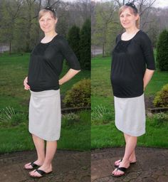 comfy skirt... I can finally use up all that knit material of mine