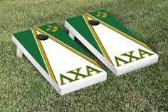 Features:  -Officially licensed collegiate product.  -ACA regulation size .  -Tournament grade construction.  -Includes bag set and folding legs.  -Made in the USA.  -Set include 2 cornhole boards and