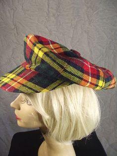 Vintage 60s The St Andrews Plaid Wool Golf Cap Hat Scotland Mens Ladies | eBay