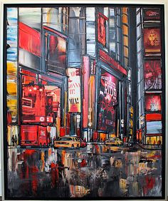 Gorgeous vibrant painting of New York - $2,363