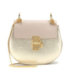 Chloé - Drew metallic leather shoulder bag