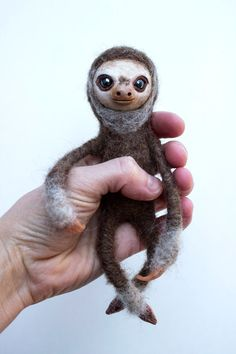Hey, I found this really awesome Etsy listing at https://www.etsy.com/listing/211410180/sloth-doll-posable-art-doll-needle