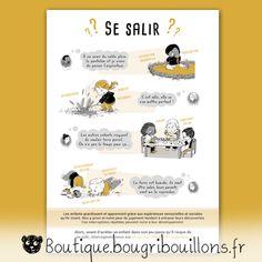 affiches petite enfance Bougribouillons - Laisser les enfants se salir et jouer librement Education Positive, Toddler Learning, Parents, Compliments, Positivity, Exploration, Boutique, Bravo, Bb