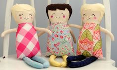 Aww I've BEEN wanting sew some Black Apple Dolls but have been intimidated by the faces!  These look drawn on.  That I could handle!
