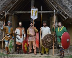 Re-enactors portraying Frankish and Merovingian period (6th - 7th century AD).