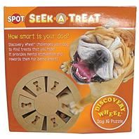 Ethical Dog - Seek-A-Treat Discovery Wheel Puzzle - Assorted - 077234057858 .  • Discovery Wheel Is An Interactive Toy That Challenges Your Dog To Find Treats That You Hide • Provides Mental Stimulation and Rewards Them For Being Smart.