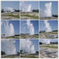 Yellowstone National Park - Eruption of Old Faithful