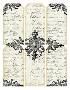 Victorian ledger ~ free printable gift tags
