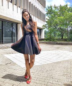 Fashion- Pretty in Polka Dotted Dresses – Living Lissy Polka Dot Print, Polka Dots, Black And White Prints, Red Accents, Dot Dress, Flare Dress, Retro Fashion, Wrap Dress, Pretty
