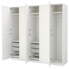 IKEA - PAX Wardrobe white, Hemnes white stain