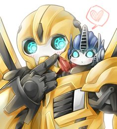 Baby Optimus or maybe Chibi I can't tell