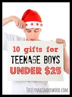 Are gifts for teenage boys on your list this year? How about ten ideas under $25?