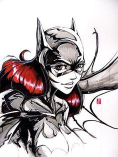 batgirl illustration   Found on artofjeprox.deviantart.com
