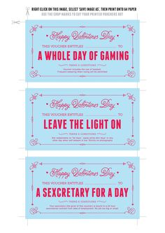 Last Minute Valentine's Day Printable Gift Voucher for Him