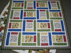 Perfect for any little boy!! Baby quilt pieced quilt Crib quilt Flannel backed by cutequilts, $125.00