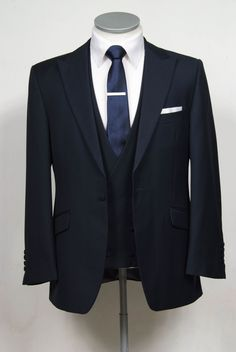 """grooms wedding suit navy slim fit in light weight wool with double breasted waistcoat. Mens sizes from 32"""" chest upward and include extra short, short, regular, long and extra long fittings. Boys sizes from 20"""" to 34"""" chest. Complete outfit includes jacket, skinny trousers, hire or matching waistcoat, brand new traditional or French wing slim fit shirt in white or ivory, tie or cravat, braces and cufflinks. £150.00 to hire #groom #wedding #suit #hire #suithire #waistcoat #navy #groom"""