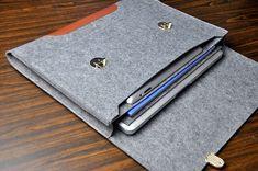 Leder Laptoptasche MacBook pro 17-Fall Laptop von FeltBagWorld