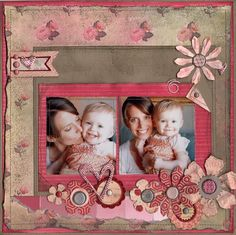 Mother/Daughter - Scrapbook.com...love this scrapbook page layout!!