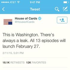 London Film Premieres - Watch house of cards season 3 Trailer
