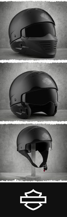 Three innovative options to wear for added comfort. | Harley-Davidson Pilot II 3-in-1 X04 Helmet