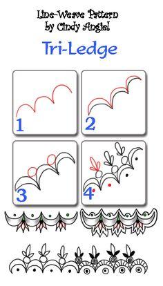 Tri-Ledge Zendoodle Free Pattern Worksheet