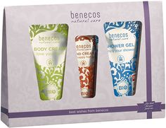 Benecos Gift Set includes the skin protecting #Benecos Body Moisturising Cream, the gentle Benecos Shower Gel and the popular Benecos Hand Cream all this for only £10.95. Vegan.