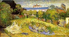 Jardín de Daubigny, julio de 1890, Auvers. Vincent Van Gogh. Kunstmuseum de Basilea.