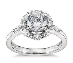 Monique Lhuillier Wreath Halo Diamond Engagement Ring in Platinum (1/3 ct. tw.)