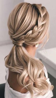 Ponytail updos for weddings ponytail hairstyles ponytail hairstyles 2020 wedding ponytail prom hairstyles prom ponytail weddinghairstyles wedding hairstyles diy desk diy bed frame garden design garden furniture unicorn nail grey nail diy wohnen gray nail Wedding Ponytail Hairstyles, School Hairstyles, Bridesmaid Hair Ponytail, Hairstyle Short, Easy Prom Hairstyles, Office Hairstyles, Anime Hairstyles, Stylish Hairstyles, Hairstyles Videos
