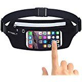 On Black Friday Cyber monday sale Running Belt Waist Pack IFITBELT Unisex Touchscreen Compatible Workout Belt Waist Bag with Reflective Transparent...