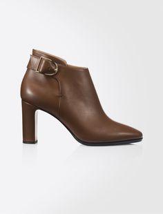 Leather ankle boot, tobacco - ORNATI Max Mara