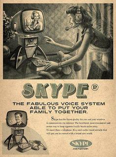 Vintage inspired advertising: Skype