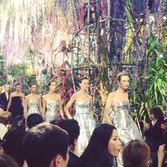 Finale at Christian Dior Spring-Summer 2014 Fashion Show #PFW #RTW #SS14 #video #Dior #LVMH via vogueparis