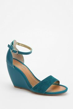 3e3cda61a41c9 Teal Seychelles Thyme Wedge Sandal. These would be great for the summer.  Urban Outfitters