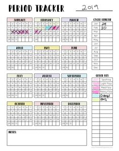 Period Tracker - menstrual cycle tracker, period c Bullet Journal Tracker, Bullet Journal Ideas Pages, Bullet Journal Inspiration, Period Calendar, Bellet Journal, Download Digital, Pin On, Menstrual Cycle, Printables