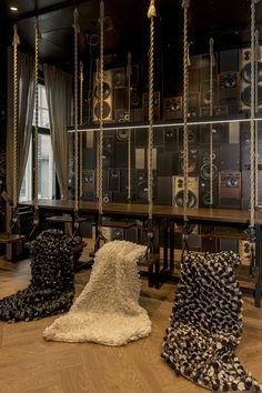 Luxury brown, white, black blanket, quilt, www.satunisu.fi, interior, design, unique
