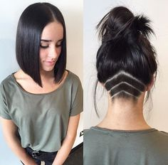 "3,928 Likes, 164 Comments - #BuzzCutFeed (@buzzcutfeed) on Instagram: ""Gorgeous Dark Blunt Long Bob  Hair By @hairbyrubymay 😍💯 #UCFeed #BuzzCutFeed #Undercut #Undercuts…"""