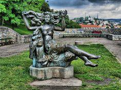 Statue at Bratislava Castle gardens