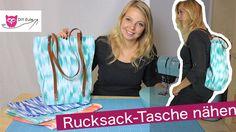 Rucksack-Tasche mit Lederriemen nähen – DIY Eule