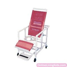 """Healthline Medical Products - CS400W4 - Reclining Shower Chair, 54-1/2"""" H x 24"""" W x 39-1/2"""" D"""